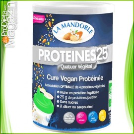 Pudra proteica 80% proteine 4 vegetale 230g