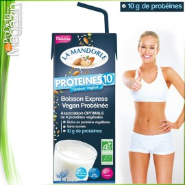 Lapte PROTEIC vegetal cu migdale Protein 10 200ml